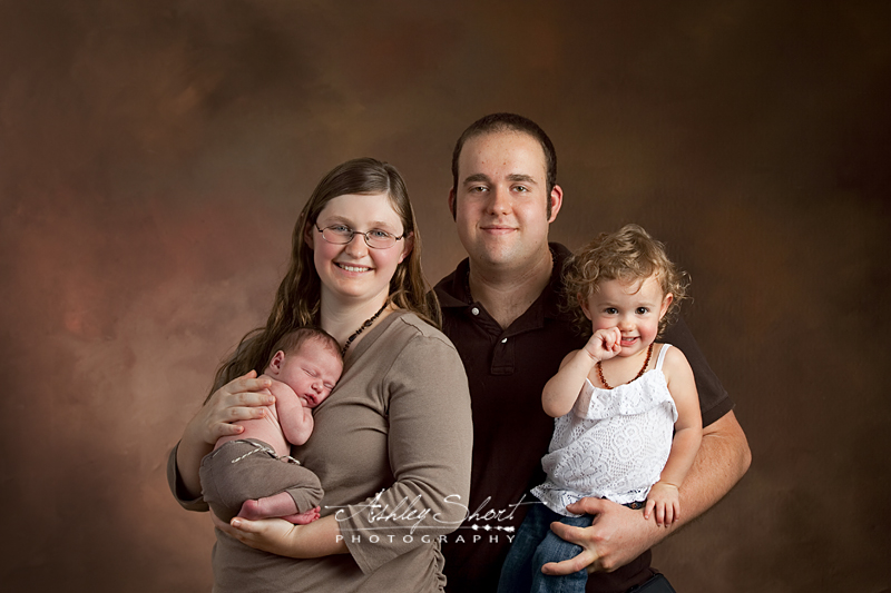 newborn and family picture, archbold photographer