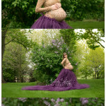 outdoor maternity photo session in front of Lilacs. Wauseon and Archbold Ohio area.